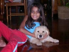 Neo (8 weeks old) and Divya (8 years old)